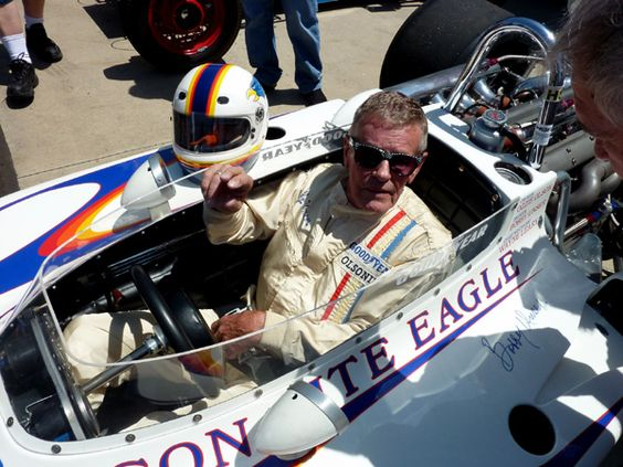 Bobby Unser . . . over 40 years later . . . in the Eagle 72
