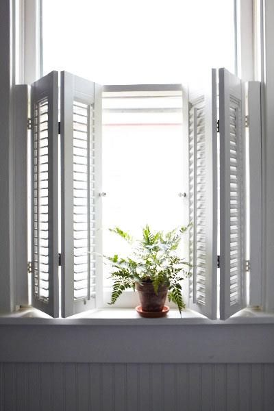 Shutters interior shutters and cafe style on pinterest - How to make interior window shutters ...