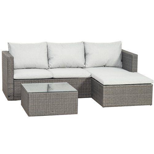 Sol 72 Outdoor Ange 4 Seater Rattan Corner Sofa Set Corner Sofa Set Rattan Corner Sofa Corner Sofa With Cushions