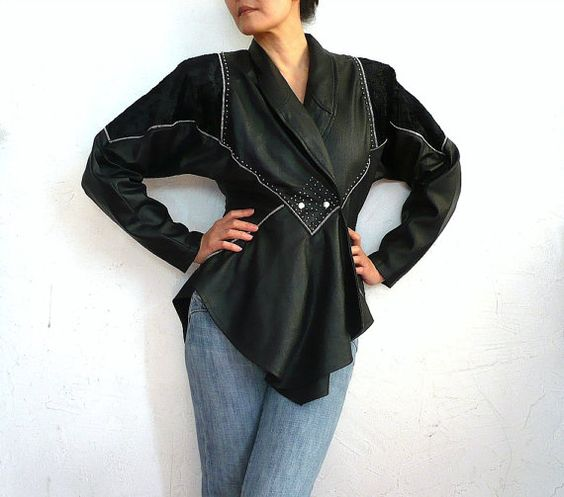 CINA French Vintage 80s Black Statement Blouse by bOmode on Etsy, $89.00