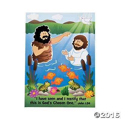Baptism of Jesus Mini Sticker Scenes