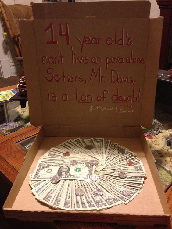 "Zack's 14th Birthday ""Pizza"" Present | BIRTHDAY CAKES ..."
