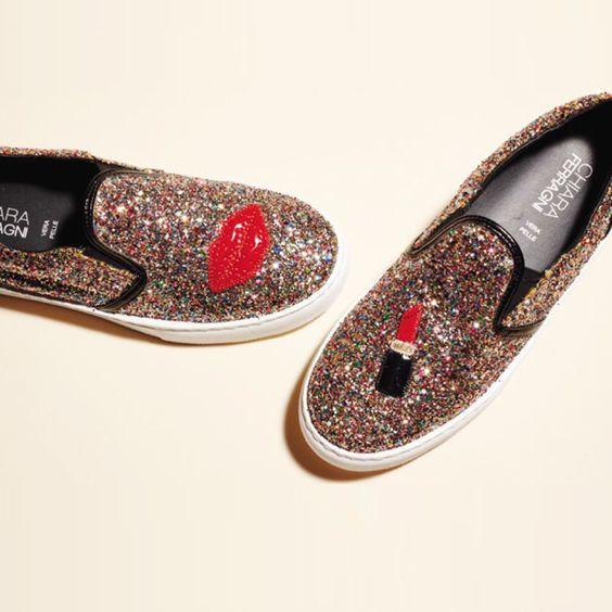Chaussures en toile pailletée, @chiaraferragni  #VuAuBonMarche #LeBonMarche #shoes #mode #femme #fashion #women