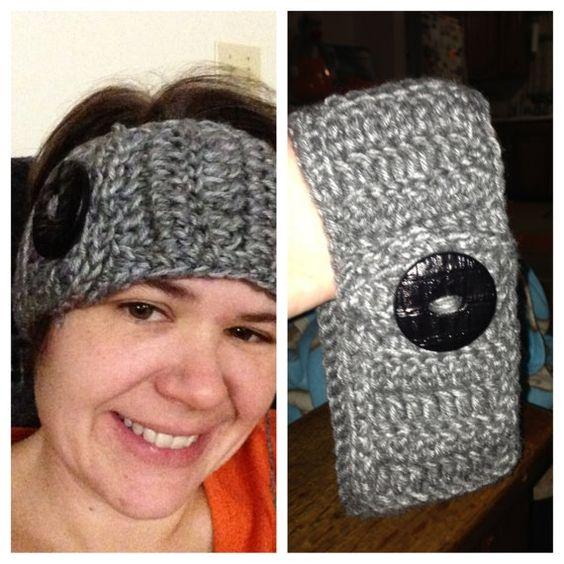 Grey Crocheted Headband / Earwarmer by byBrendaS http://etsy.me/V4STnG via @Etsy