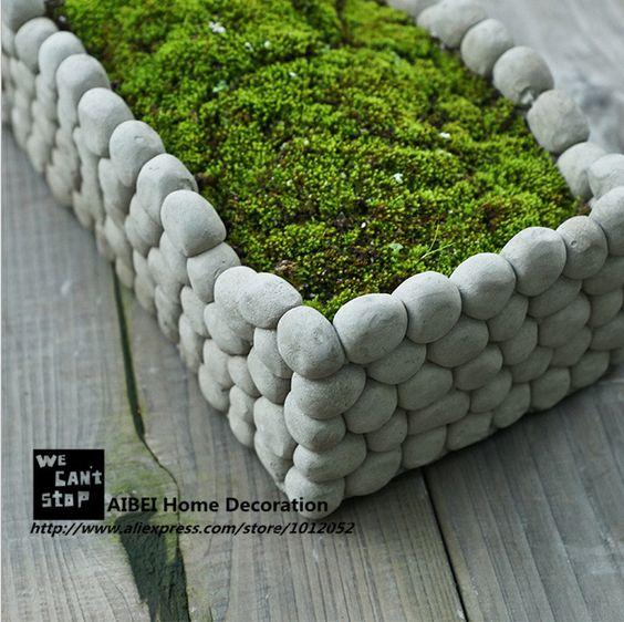 Aibei creatieve ademend micro stenen bloempot landschap vierkante rechthoek vetplanten hydrocultuur cement kleine tuin potten in product optie lijstNoot: de volgende informatie is alleen ter referentie. Neem dan contact op met de verkoper om de gede van Bloempotten & Planters op AliExpress.com | Alibaba Groep