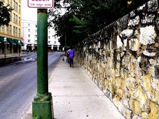 the Alamo wall