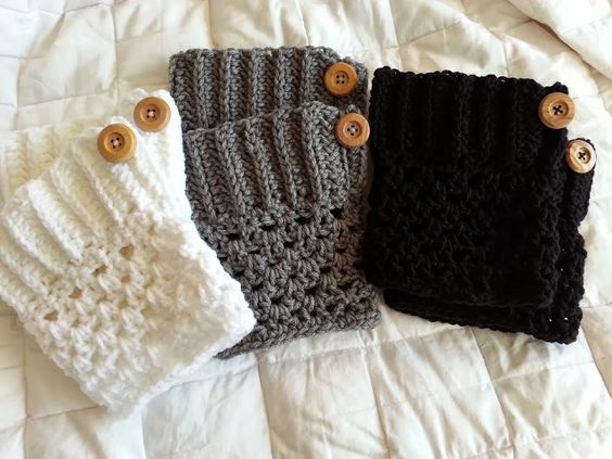 Crochet from J: Boot Cuffs Pattern  - like these better then the ones i made earlier