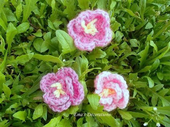 floricele crosetate