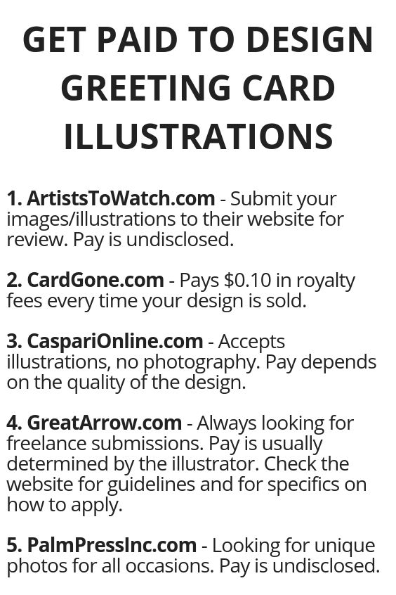 Get Paid To Design Greeting Card Illustrations Work From Home