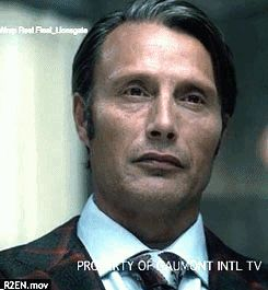 Hannibal S2 Gag Reel: Can You Lend Me An Ear? (I love his little grin at the end.)
