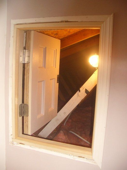 Project Coraline Build An Attic Door W Skeleton Lock Attic Doors Attic Access Door Crawl Space Door