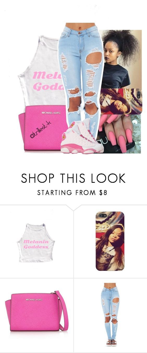 """I'm comin thruu.. toniight"" by trillest-k ❤ liked on Polyvore featuring MICHAEL Michael Kors"