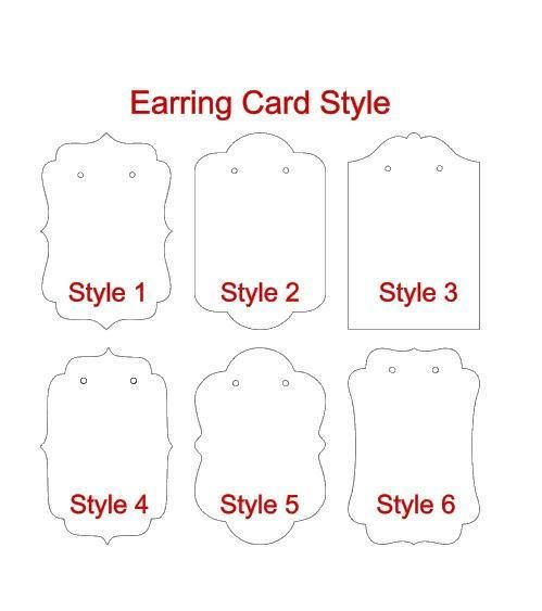 25 Jewelry Cards Earring Cards Jewelry Display Tags 3 0 In X 2 In Earring Card Earring Hang Tags Jewelry Holder Ec7 Earring Cards Earring Cards Template Diy Earring Cards