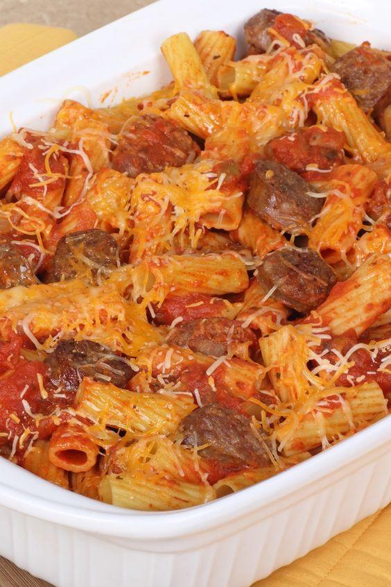 Easy Italian Rigatoni, Sausage, and Cheese Casserole Recipe with Onion ...