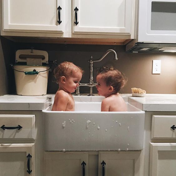 double sink baths all day long babies puppies pinterest my life double sinks and. Black Bedroom Furniture Sets. Home Design Ideas