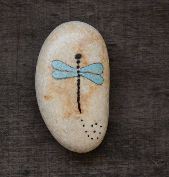 Hey, I found this really awesome Etsy listing at https://www.etsy.com/listing/189345508/dragonfly-painted-beach-stones-israel