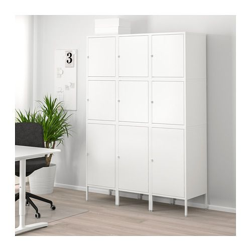 Hallan Storage Combination With Doors White 53 1 8x18 1 2x75 5 8