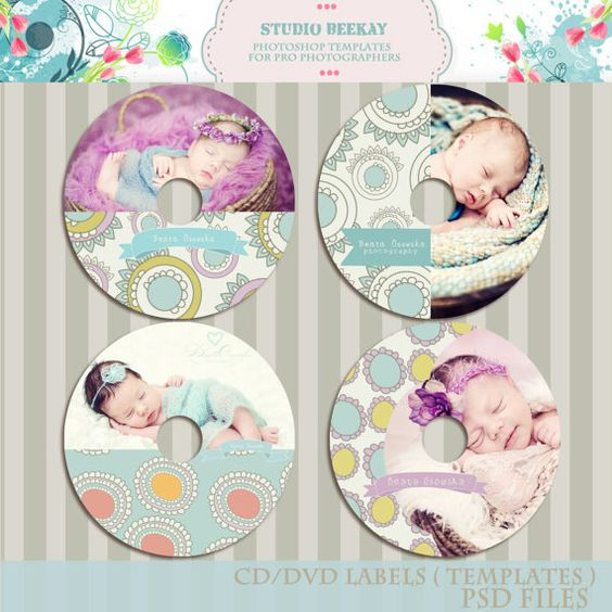 INSTANT DOWNLOAD Pro Photographers Cd\/ Dvd Label Templates Psd - abel templates psd