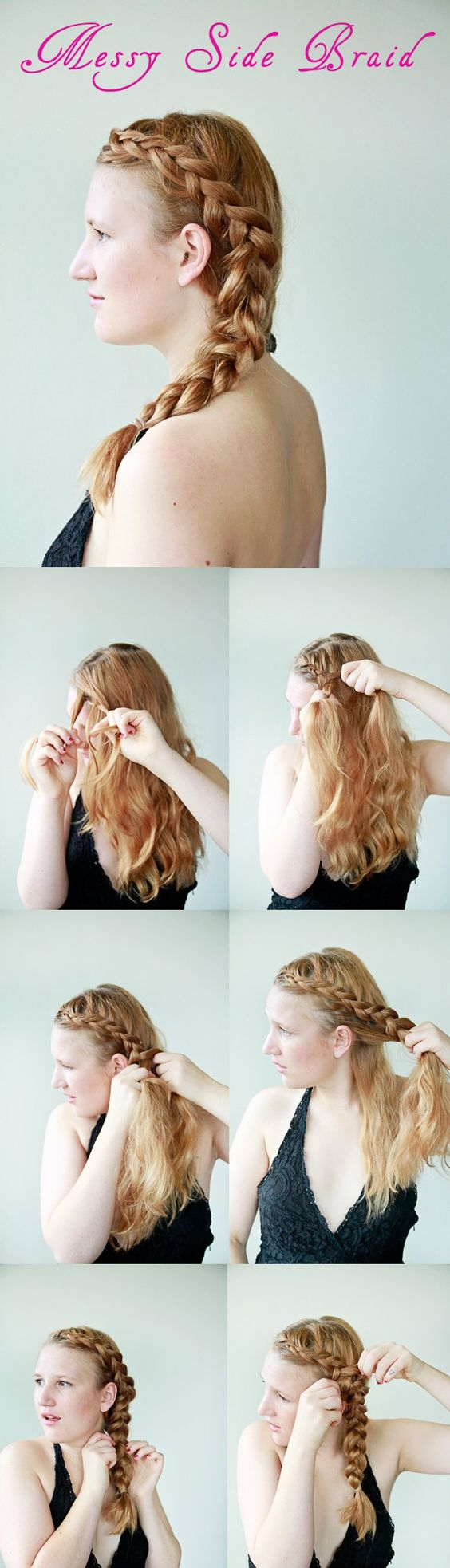 how to do a messy braid - a really easy braid that's great for both work and events. try it now!
