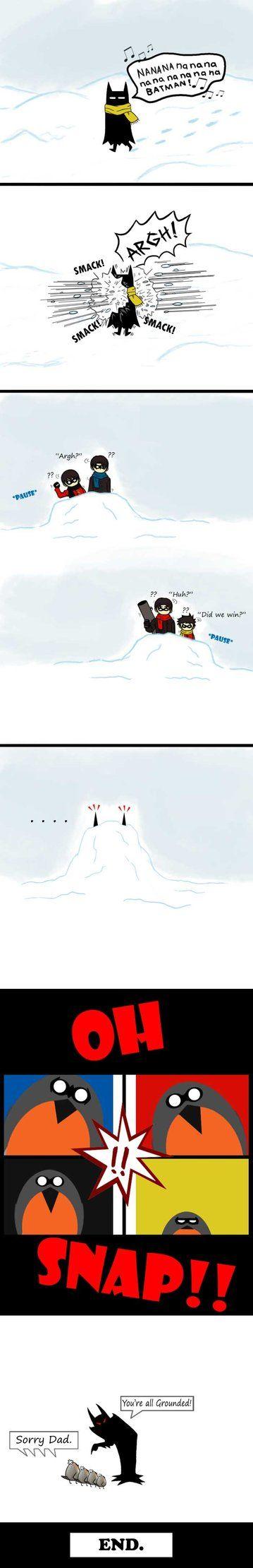 Batman Caught In The Middle by ~CrimsonHorror on deviantART
