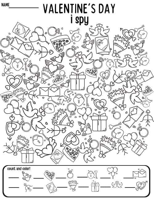 18+ Valentines day worksheet pdf For Free