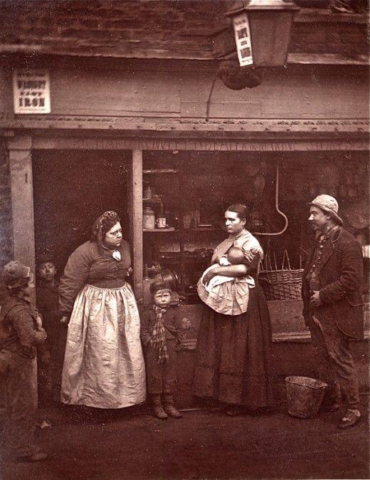 Street life in London, 1876. John Thomson; copyright Bishopsgate Institute via Spitalfields Life