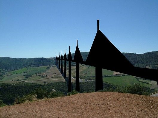 The Millau Viaduct (Alexander Georgiev Barov) censored to show the effect of restricting Freedom of Panorama in the EU. Image via Wikimedia