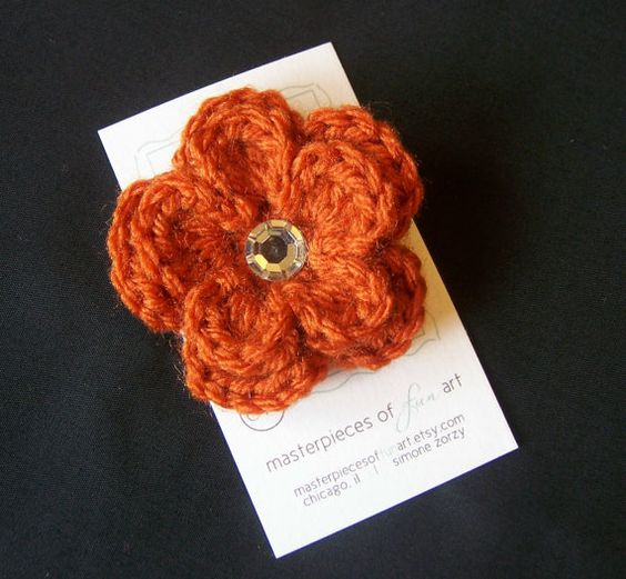 ... crochet flower clippie for toddlers, big girls and adults too