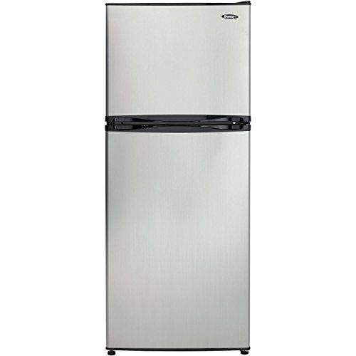 Danby Dff100c1bsldb Refrigerator With Top Mount Freezer 9 9 Cubic Feet Black Spotless Steel Wall S Furniture Decor Top Freezer Refrigerator Energy Star Refrigerator Refrigerator