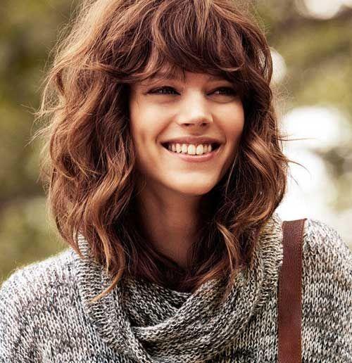 Cool Haircut For Wavy Frizzy Hair Short And Curly Haircuts Medium Length Curly Hair Hair Styles Wavy Hairstyles Medium