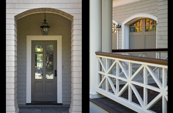 porch railing decorative panels details pinterest two tones grey and close up. Black Bedroom Furniture Sets. Home Design Ideas