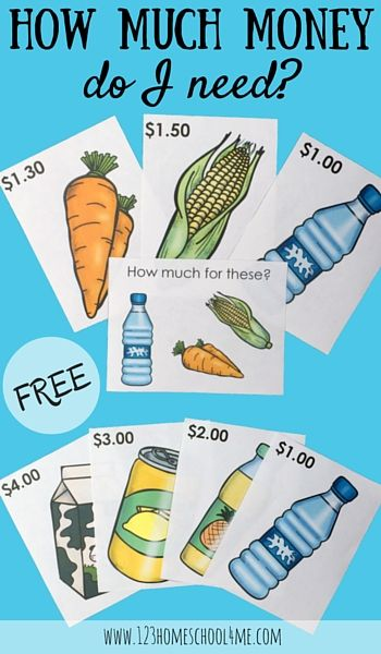 If your kids love playing shop, these FREE priced shopping items and task cards will motivate them to practice math while playing money games! The: