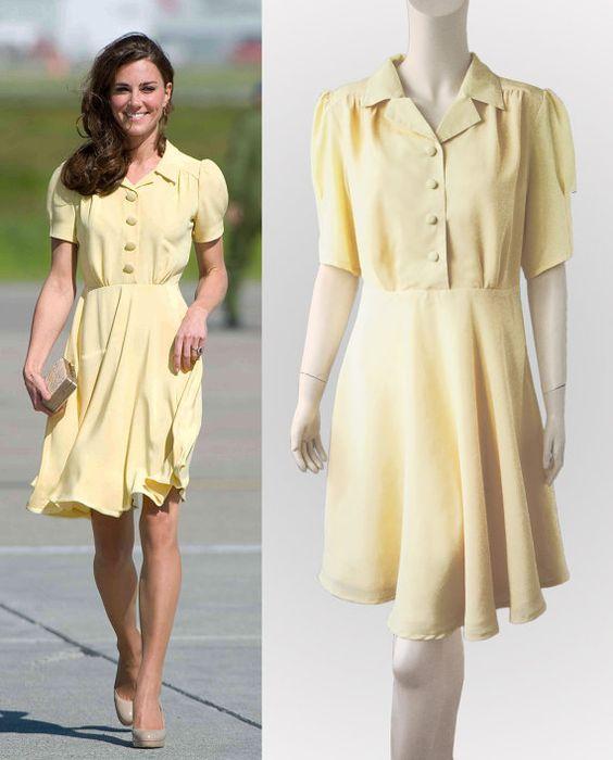 Kate middleton yellow dress