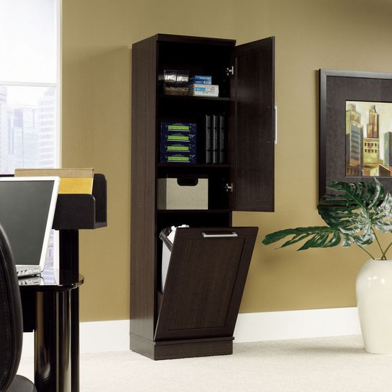 Details About Oak Storage Cabinet Linen Wood Tower Home