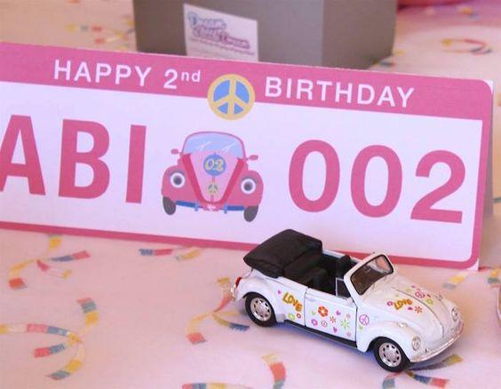 Decor from a 60's VW Love Bug Themed Birthday Party via Kara's Party Ideas KarasPartyIdeas.com (15)
