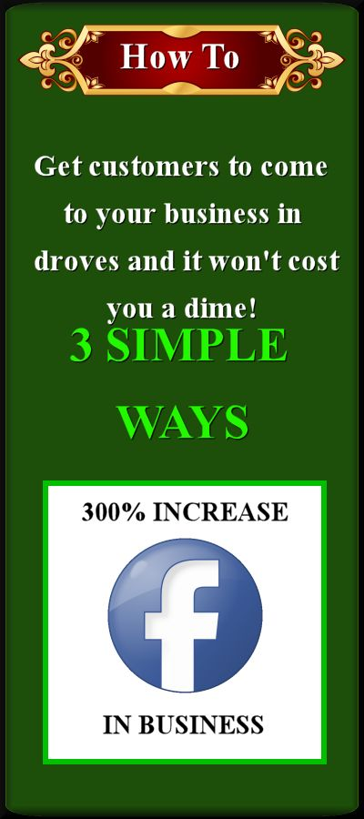 3 simple ways to get traffic in your door and online for free using this Facebook method.
