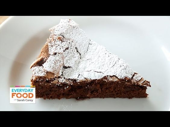 stunning 4-Ingredient Flourless Chocolate Cake - Everyday Food with Sarah Carey
