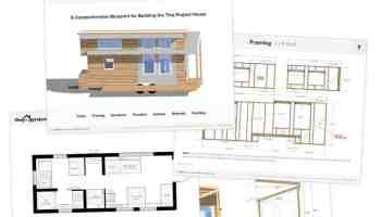 Tiny Project Tiny House Floor Plans Construction Pdf Sketchup In 2020 Tiny House Plans Free Tiny House Trailer Plans Tiny House Floor Plans