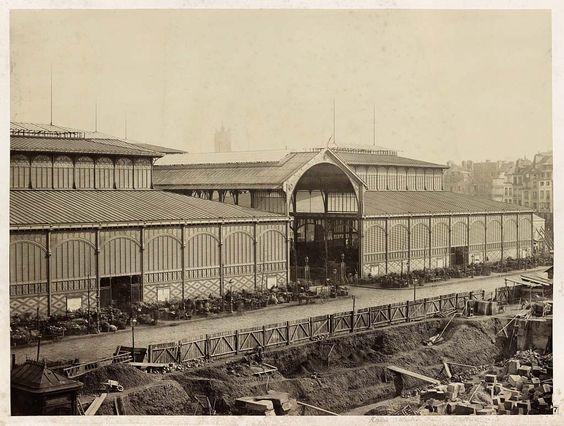 Les Halles, Paris. 1867.
