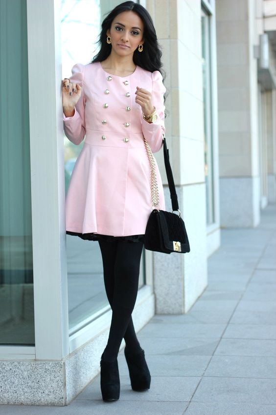 Light Pink Trench Coat: Sheinside. Bag: Shoedazzle. Booties (old