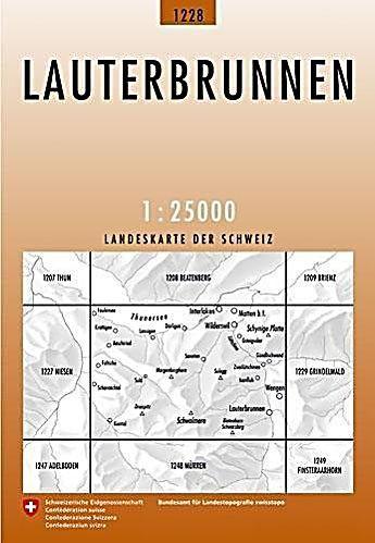 Landeskarte Der Schweiz Lauterbrunnen Karte Im Sinne Von