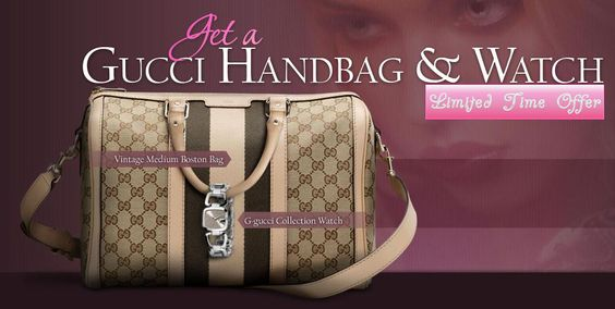 Pinners! Gucci is giving away a free fancy handbag to all the pinterest ladies. Limited users only, get your free here: http://shortit.co/pinguccibagfree