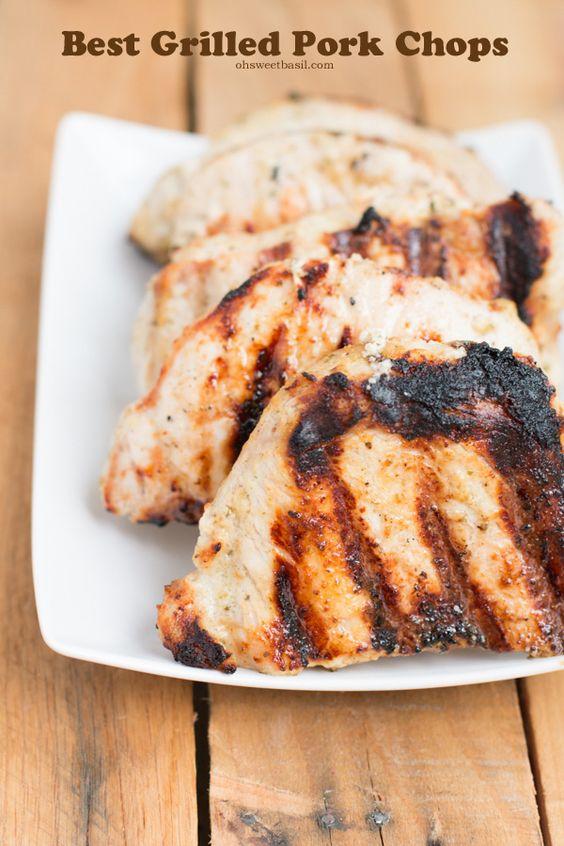 grilled pork chops #recipe ever. Had no idea I could love a pork chop ...