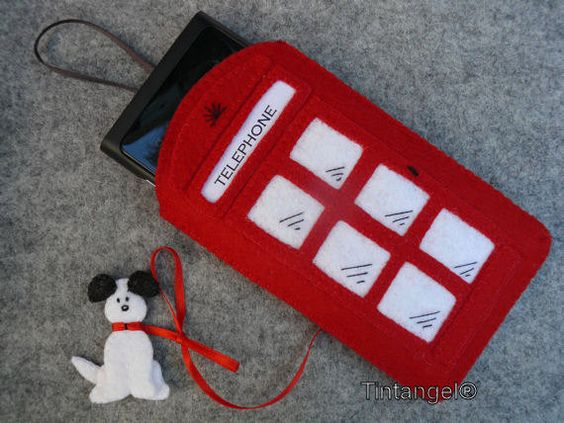 Smartphone case English pay phone by Tintangel on Etsy, €12.95