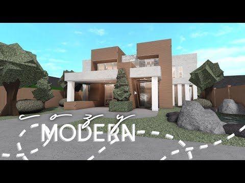 Roblox Bloxburg Cozy Modern House House Build Youtube In