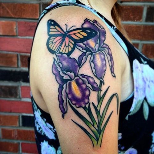 150 Iris Tattoo Designs With Meaning Flowertattooideas Com Iris Tattoo Iris Flower Tattoo Butterfly Tattoo Designs