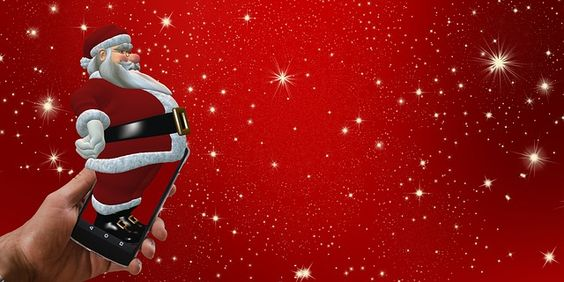 Santa, Boże Narodzenie, Smartphone, Telefon Komórkowy
