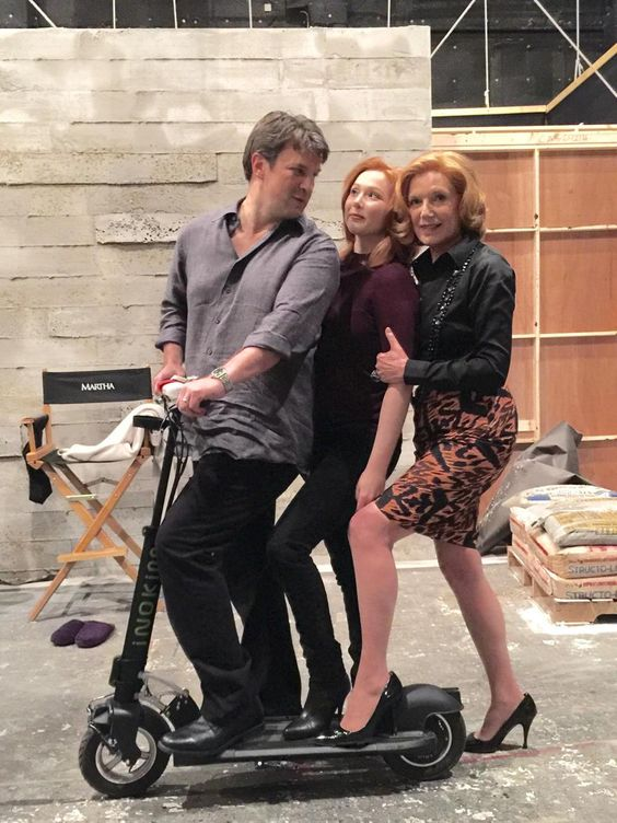 Castle tv series - A family that plays together stays together! -From Susan's twitter #Castle #NathanFillion #MollyQuinn