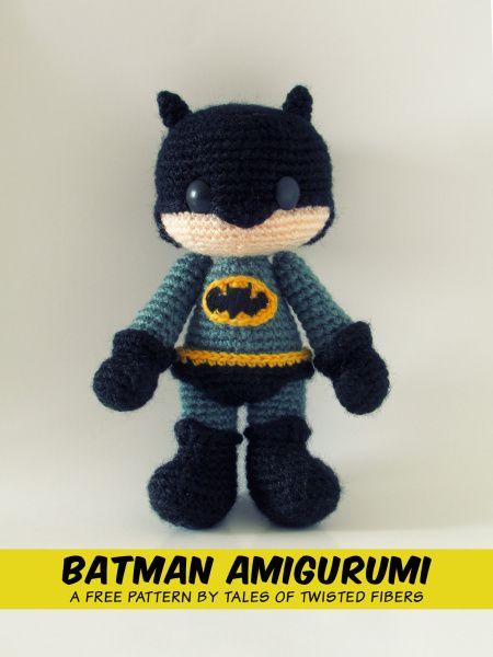 Amigurumi, Free pattern and Batman on Pinterest