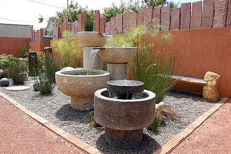fountain/courtyard: Fountain Courtyard, Patio Garden, Garden Patio, Fountain Home Backyard Jpg 475